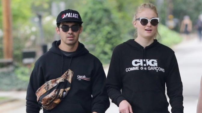 Joe Jonas and Sophie Turner out in Beverly Hills