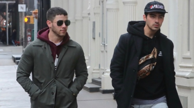 Joe & Nick Jonas Spotted out in New York