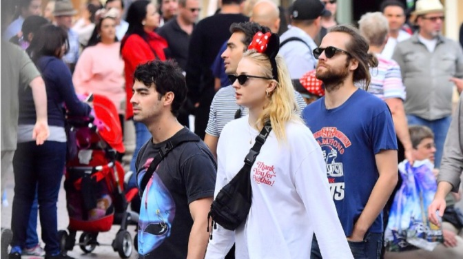 Joe Jonas, Sophie Turner and Jack Lawless Spotted out at Disneyland