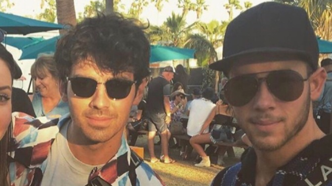 Joe and Nick Jonas Attend Night 1 of the Stagecoach Festival