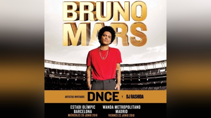 DNCE to Support Bruno Mars in Spain