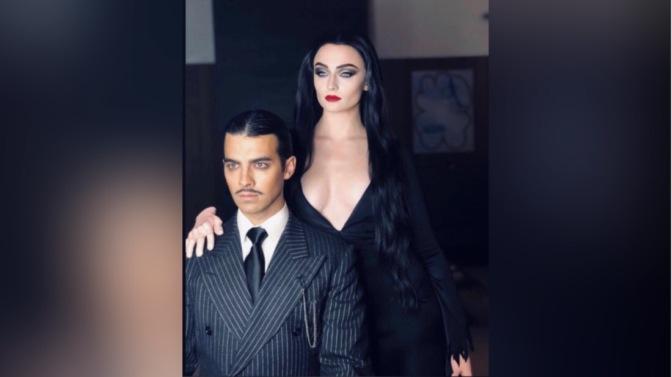 Joe Jonas and Sophie Turner Celebrate Halloween as Morticia and Gomez Addams