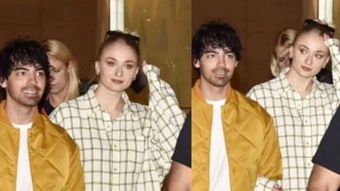 Joe Jonas and Sophie Turner Arrive in Mumbai, India