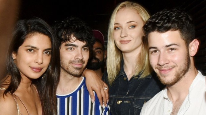 Joe Jonas, Sophie Turner, Nick Jonas and Priyanka Chopra Spotted Out in Mumbai
