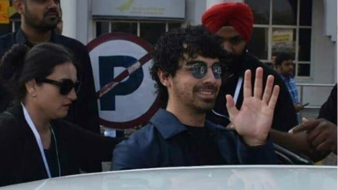 Joe Jonas Arrives in Jodhpur, India
