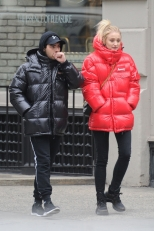 BGUK_1433370 - ** RIGHTS: ONLY UNITED KINGDOM ** New York, NY - *EXCLUSIVE* - Winter is coming! 'Game of Thrones' star Sophie Turner and her fiancé, singer Joe Jonas bundle up against the cold in coordinating Moncler jackets – red for Sophie and black for Joe – as they head out for an afternoon of shopping. The pair stopped in several stores, including Rihanna's Savage x Fenty lingerie store, where Sophie walked out with a purchase. Pictured: Joe Jonas, Sophie Turner BACKGRID UK 12 DECEMBER 2018 UK: +44 208 344 2007 / uksales@backgrid.com USA: +1 310 798 9111 / usasales@backgrid.com *UK Clients - Pictures Containing Children Please Pixelate Face Prior To Publication*
