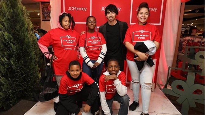 Joe Jonas Gives Back at JCPenney's in New York