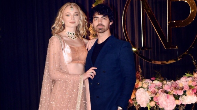 Joe Jonas Attends Nick Jonas and Priyanka Chopra's Wedding Reception in Delhi