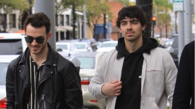 Joe Jonas and Kevin Jonas out in Beverly Hills