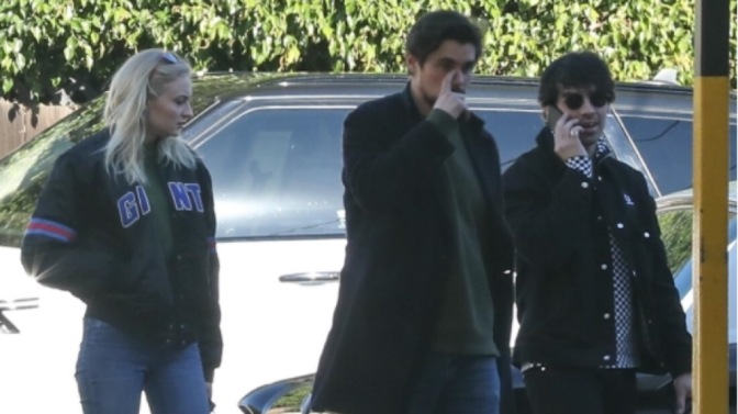 Joe Jonas and Sophie Turner out in Culver City, CA