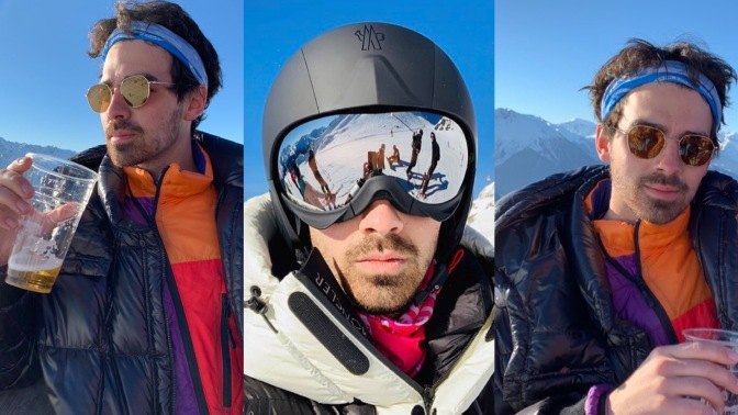 Joe Jonas Vacations in Switzerland