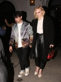 West Hollywood, CA - Joe Jonas and Sophie Turner holding hands as they exit Craigs after a dinner date. Pictured: Joe Jonas, Sophie Turner BACKGRID USA 9 FEBRUARY 2019 BYLINE MUST READ: Byrdman / BACKGRID USA: +1 310 798 9111 / usasales@backgrid.com UK: +44 208 344 2007 / uksales@backgrid.com *UK Clients - Pictures Containing Children Please Pixelate Face Prior To Publication*