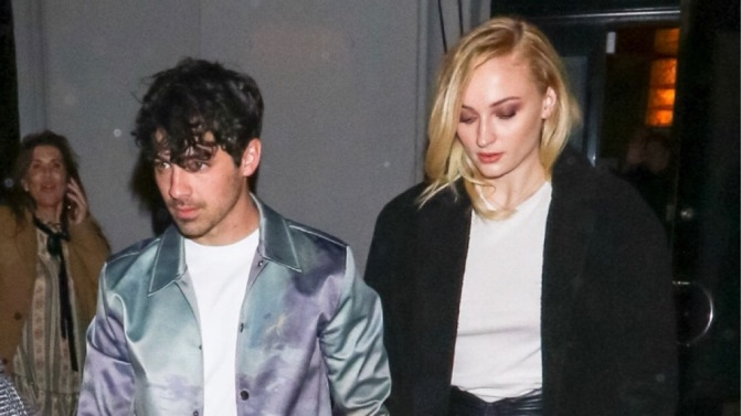 Joe Jonas and Sophie Turner Leaving Craig's in West Hollywood